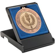 Black Medal Box Large (50/60/70mm Recess Blue ) 4.75in