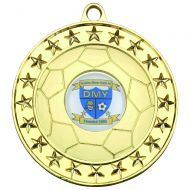 Football Medal Gold 2.75in