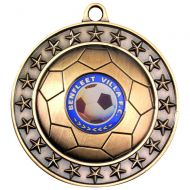 Football Medal Antique Gold 2.75in