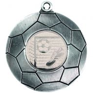 Domed Football Medal Antique Silver 2in