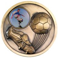 Football Boot Medallion Antique Gold 2.75in