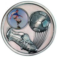 Football Boot Medallion Antique Silver 2.75in