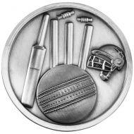 Cricket Medallion Antique Silver 2.75in