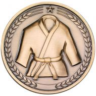 Martial Arts Medallion Antique Gold 2.75in