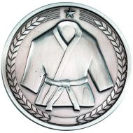 Martial Arts Medallion Antique Silver 2.75in