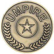 Umpire Medallion - Antique Gold - 2.75in : New 2018