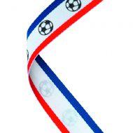 Medal Ribbon Red/W/Bl Footballs 30 X 0.875in