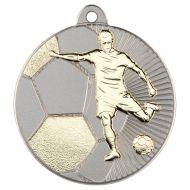 Football Two Colour Medal - Matt Silver/Gold 2in