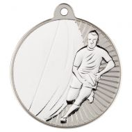Rugby Two Colour Medal - Matt Silver/Silver 2in