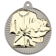 Martial Arts Two Colour Medal - Matt Silver/Gold 2in