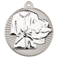 Martial Arts Two Colour Medal - Matt Silver/Silver 2in
