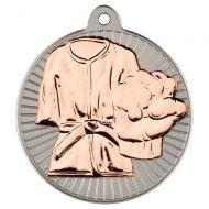 Martial Arts Two Colour Medal - Matt Silver/Bronze 2in