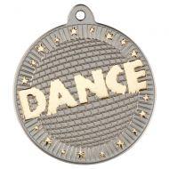 Dance Two Colour Medal - Matt Silver/Gold 2in