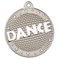 Dance Two Colour  Medal - Matt Silver/Silver 2in