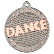 Dance Two Colour Medal - Matt Silver/Bronze 2in