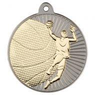 Basketball Two Colour Medal - Matt Silver/Gold 2in