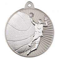 Basketball Two Colour Medal - Matt Silver/Silver 2in