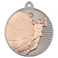 Basketball Two Colour Medal - Matt Silver/Bronze 2in