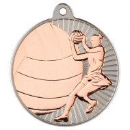 Netball Two Colour Medal - Matt Silver/Bronze 2in