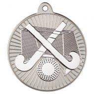Hockey Two Colour Medal - Matt Silver/Silver 2in