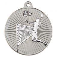 Badminton Two Colour Medal - Matt Silver/Silver 2in