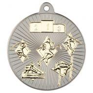 Multi Athletics Two Colour Medal - Matt Silver/Gold 2in
