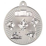 Multi Athletics Two Colour Medal - Matt Silver/Silver 2in
