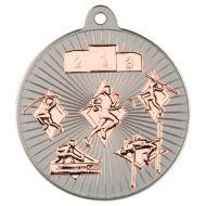 Multi Athletics Two Colour Medal - Matt Silver/Bronze 2in