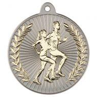 Running Two Colour Medal - Matt Silver/Gold 2in