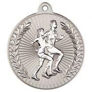 Running Two Colour Medal - Matt Silver/Silver 2in