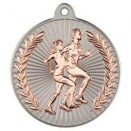 Running Two Colour Medal - Matt Silver/Bronze 2in
