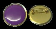 Plain Purple Lapel Pin Badges 25mm House School Merit Various Colours
