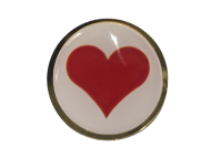 "Red Heart Lapel Pin Badge Compassion Souvenir 25mm 1"" Be Kind"
