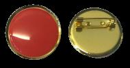 Plain Red Lapel Pin Badges 25mm 1 House School Merit Various Colours