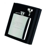 6oz Stainless Steel Hip Flask Captive Top 4.25in
