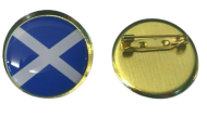 "SCOTLAND - Scottish Flag Lapel Pin Badges 25mm 1"" Blue and White"