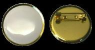 Plain White Lapel Pin Badges 25mm 1 House School Merit Various Colours