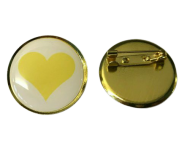 Yellow Heart Lapel Pin Badge Loss Remembrance Love Friendship