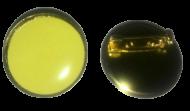 Plain Yellow Lapel Pin Badges 25mm 1 House School Merit Various Colours